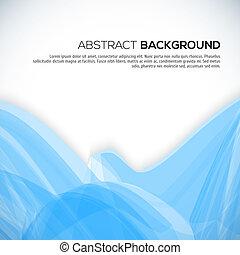 azul, abstratos, ondulado, fundo, 3d