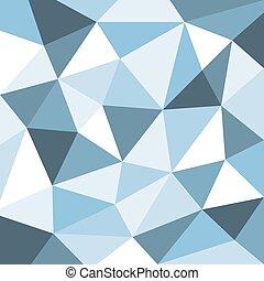 azul, abstratos, polígono, fundo