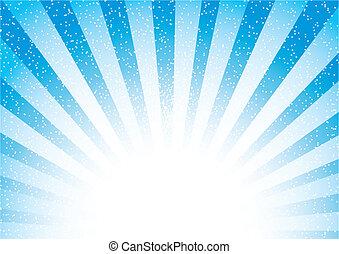 azul, abstratos, sunburst