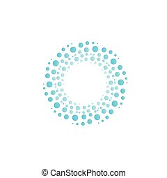 azul, abstratos, vórtice, água, círculos, drops., vetorial, bolhas, círculo, logo.