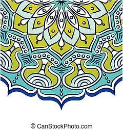 azul, abstratos, vetorial, fundo, mandala, imagem