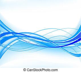 azul, abstratos, vetorial, fundo