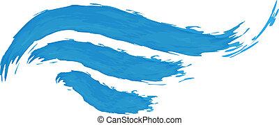azul, abstratos, vetorial, ilustração, onda