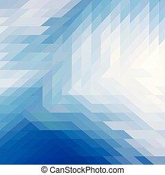 azul, abstratos, vetorial, polígono, fundo