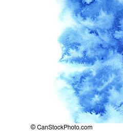 azul, acuarela, diffluent, plano de fondo