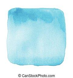 azul, acuarela, Extracto, blanco, Plano de fondo