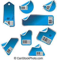 azul, adesivos