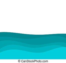 azul, agua de mar, plano de fondo