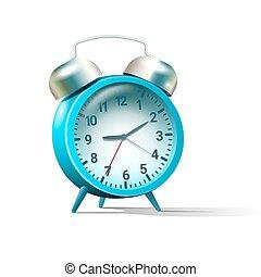azul, alarme, colorido, relógio