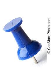 azul, alfiler