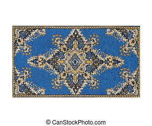 azul, alfombra