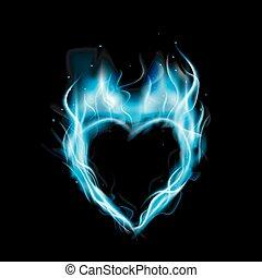 azul, amor, símbolo, anel