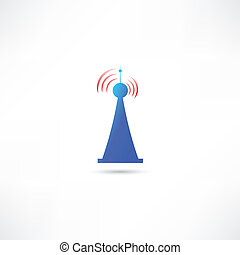 azul, antena
