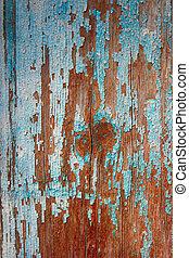 azul, antigas, resistido, pintado, -, textura, parede, madeira, fundo