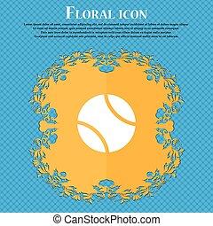 azul, apartamento, bola, abstratos, tênis, text., vetorial, desenho, fundo, floral, lugar, icon., seu, ícone