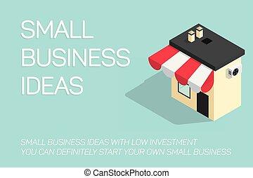 azul, apartamento, conceito, ilustração negócio, fundo, pequeno