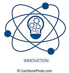 azul, apartamento, vetorial, inovação, ícone