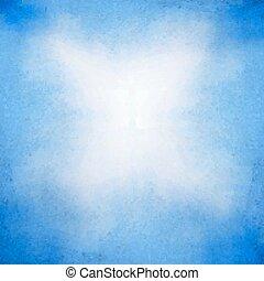 azul, aquarela, delicado, fundo