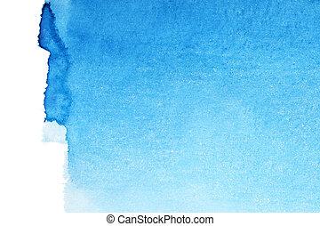 azul, aquarela, fundo