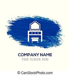 azul, -, aquarela, fundo, tabela limpeza, ícone