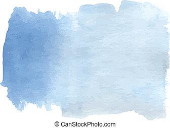 azul, aquarela, gradiente, luz