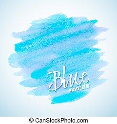 azul, aquarela, mancha, projete elemento
