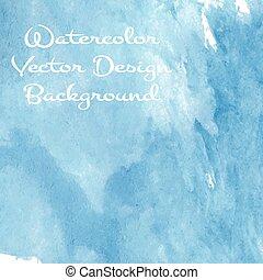 azul, aquarela, mar