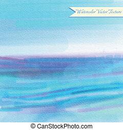 azul, aquarela, padrão