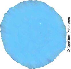 azul, aquarela, projete elemento