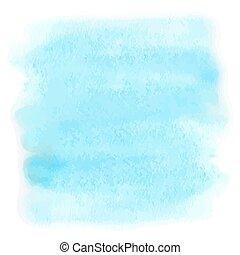 azul, aquarela