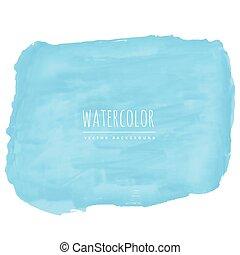 azul, aquarela, vetorial, fundo