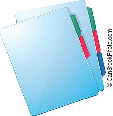 azul, archivos, enfermera