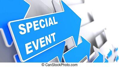 azul, arrow., evento, especiais