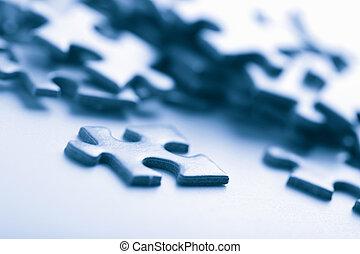 azul, artículos del rompecabezas