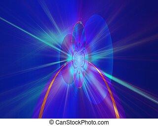 azul, arte digital