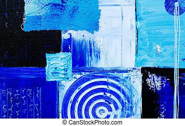 azul, arte, fundo