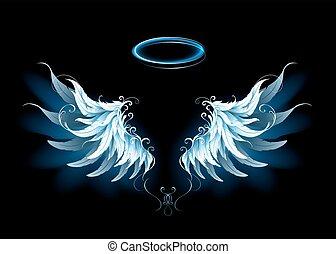 azul, asas, anjo