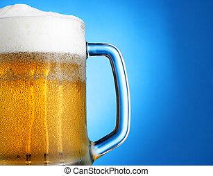 azul, assalte, cerveja, sobre