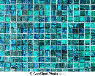 azul, azulejo, fundo