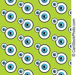 azul, backgr, vetorial, olho, padrões