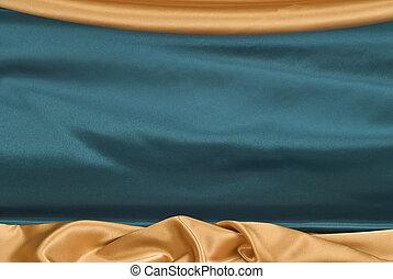 azul, backgroun, raso, real, oro