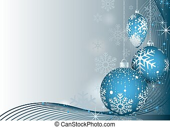 azul, bauble, saudação, natal