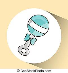 azul, bebé, diseño, bel, icono