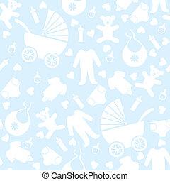 azul, bebé, seamless, plano de fondo
