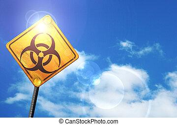 azul, bio, cielo, signo amarillo, si, peligro, blanco,...