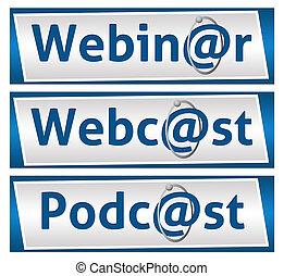 azul, bl, podcast, webcast, webinar
