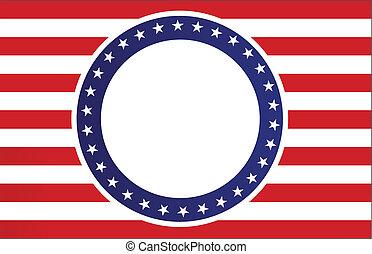 azul, blanco, bandera, rojo, estados unidos de américa