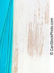 azul, blanco, servilleta, plano de fondo