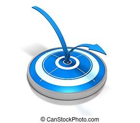 azul, blanco, y, uno, flecha, botar, en, él, -, símbolo, de,...