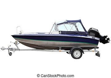 azul, boat., motor